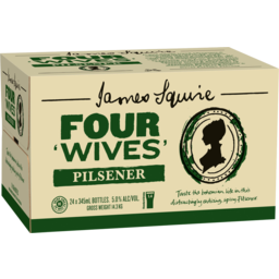 Photo of James Squire Four Wives Pilsner 24 X 345ml Bottle Carton