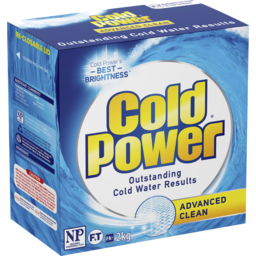 Photo of Cold Power Advanced Clean, Powder Laundry Detergent, 2kg
