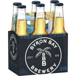Photo of Byron Bay Premium Lager Bottles 6 Pack