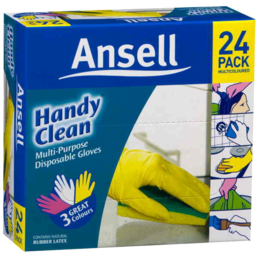 Photo of Ansell Handy Clean Disposable Gloves 24pk