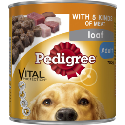 Photo of Pedigree Adult With 5 Kinds Of Meat Loaf Wet Dog Food 700g Can