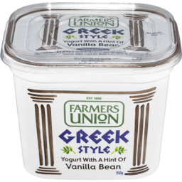 Photo of Farmers Union Greek Style Yogurt Vanilla 950g