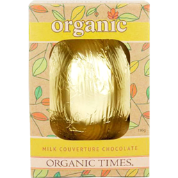 Photo of ORGANIC TIMES:OT Easter Egg Milk Chocolate 130g