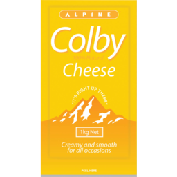 Photo of Alpine Cheese Colby 1kg