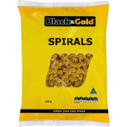 Photo of Black & Gold Spirals 500g