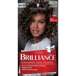 Photo of Schwarzkopf Brilliance Dark Brown Allure 88 Permanent Hair Colour One Application