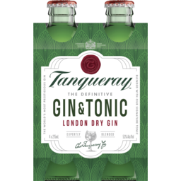 Photo of Tanqueray Gin & Tonic Bottles