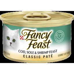 Photo of Fancy Feast Adult Classic Cod, Sole & Shrimp Feast Patè Wet Cat Food 85g