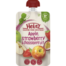 Photo of Heinz Apple, Strawberry & Passionfruit Baby Food Pouch 8+ Months 120g