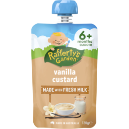 Photo of Raffertys Garden Vanilla Custard Baby Food 6m+ 120gm