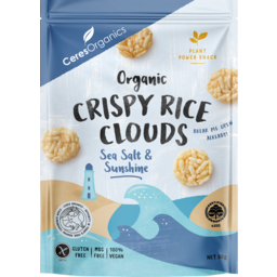 Photo of Ceres Organics Crispy Rice Clouds Sea Salt & Sunshine 50g