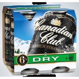 Photo of Canadian Club & Premium Dry 6% 375ml 4 Pack