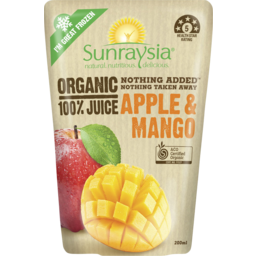 Photo of Sunraysia Organic Apple & Mango Juice 200ml