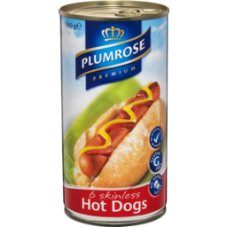 Photo of Plumrose  6 Skinless Hot Dogs 560g