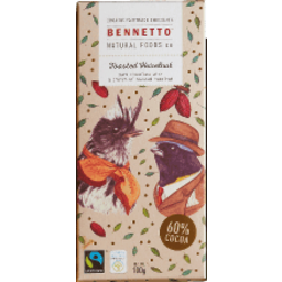 Photo of Bennetto Organic Chocolate with Toasted Hazelnut 60% 100g