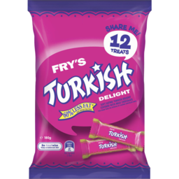Photo of Frys Cadbury Treat Size Turkish Delight 12 Pack 180g 180g