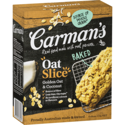 Photo of Carmans Oat Slice Golden Oat & Coconut 6pk