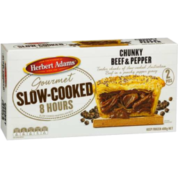 Photo of Herbert Adams Slow-Cooked Chunky Beef & Pepper 2 Pk