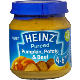 Photo of Heinz Pureed Pumpkin Potato & Beef Baby Food 110g