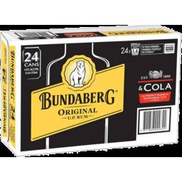 Photo of Bundaberg Original Rum & Cola 24 Pack 375ml