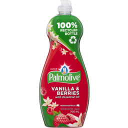 Photo of Palmolive Ultra Strength Concentrate Dishwashing Liquid Concentrate Vanilla & Berries Tough On Grease 700ml