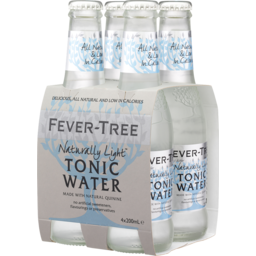 Photo of Fever Tree Naturally Light Tonic Water 200ml 4 Pack