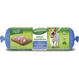 Photo of Nature's Gift Fresh Dog Roll With Chicken, Brown Rice & Vegetables 1.4