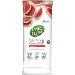 Photo of Pine O Cleen Simply Biodegradable Multipurpose Disinfectant Wipes Grapefruit 90 Pack