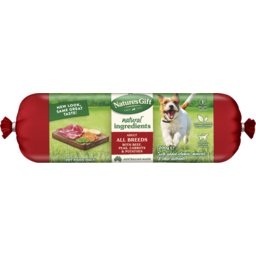 Photo of Nature's Gift Fresh Dog Roll With Beef, Potato, Carrots & Peas 200g