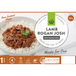 Photo of CD READY TO EAT LAMB ROGAN JOSH W/RICE  MEAL 350G