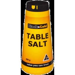 Photo of Black & Gold Salt Tble Idise Drm500g