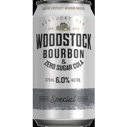 Photo of Woodstock Bourbon & Zero Sugar Cola 6% 375ml