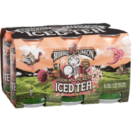 Photo of Brookvale Union Vodka & Peach Iced Tea 6pk Can