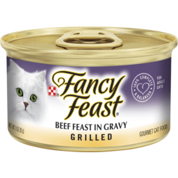 Photo of Fancy Feast Adult Classic Beef Feast In Gravy Grilled Wet Cat Food 85g