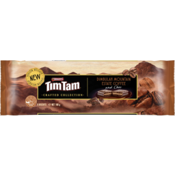 Photo of Arnotts Tim Tam Crafted Collection Dimbulah Mountain Estate Coffee & Choc Chocolate Biscuits 160g