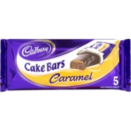 Photo of Cadbury Cake Bar Caramel 5 Pack