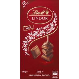 Photo of Lindt Lindor Milk Block 100g