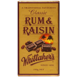 Photo of Whittakers Classic Rum & Raisin Block 250gm