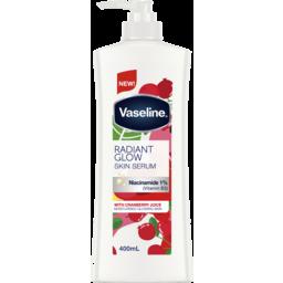 Photo of Vaseline Body Lotion Radiant Glow Skin Serum With Niacinamide 1%Vitamin B3) 400ml