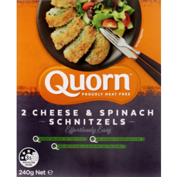Photo of Quorn Cheese & Spinach Schnitzel 240gm 2pk