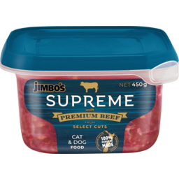 Photo of Jimbo's Supreme Cat Food Supreme Beef 450g
