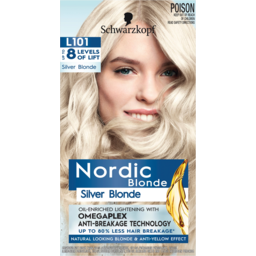 Photo of Schwarzkopf Nordic Blonde Silver Blonde L101 Hair Colour One Application