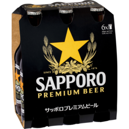 Photo of Sapporo Premium Beer 6 X 355ml Bottle