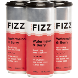Photo of Hard Fizz Watermelon & Berry Seltzer Cans