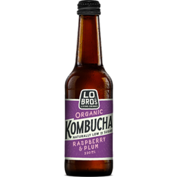 Photo of Lo Bros Kombucha Raspberry & Plum 330ml
