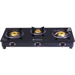 Photo of  Wonderchef Ultima 3 Burner Glass Cooktop With 1.8M Pipe And Regulator