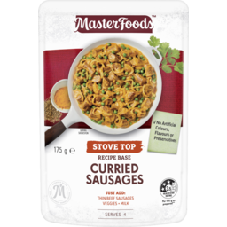 Photo of Masterfoods™ Curried Sausages Recipe Base Stove Top Pouch 175 G