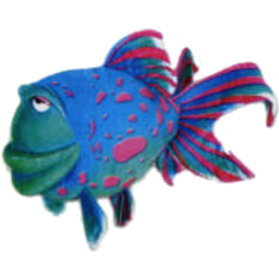 Photo of Plush Blue Fish 20cm