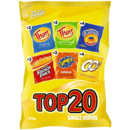 Photo of Top 20 Variety Multipack 375gm
