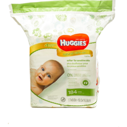 Photo of Huggies Natural Care Fragrance Free Wipes - 184 Ct